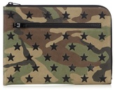 Saint Laurent Camouflage-print Leather Document Holder