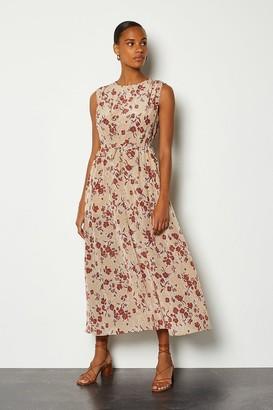 Karen Millen Printed Tie Waist Dress