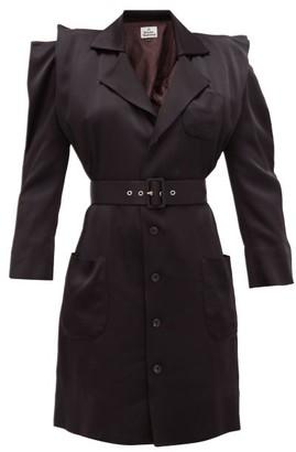 Vivienne Westwood Cath Belted Satin Dress - Womens - Black