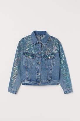 H&M Denim Jacket with Sequins - Blue