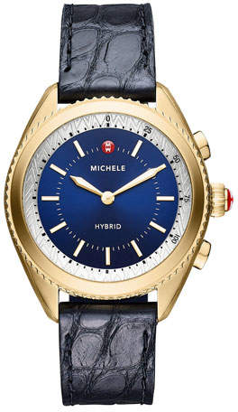 Michele 38mm Yellow Golden Hybrid Smartwatch
