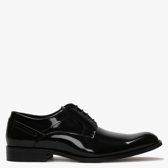Daniel Dinton Black Patent Leather Smart Lace Up Shoes