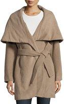 T Tahari Marla Wool-Blend Belted Cocoon Jacket