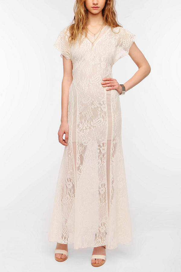 Urban Outfitters ERA By Kymerah London Lace Maxi Dress