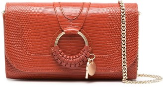 See by Chloe Hana snakeskin-effect clutch bag