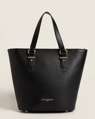 Karl Lagerfeld Paris Black Ellie Leather Satchel