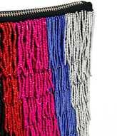 Asos Bead Embellished Stripe Clutch Bag