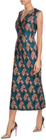 Emilia Wickstead Flocked Midi Dress