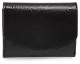 Women's Halogen Leather Card Wallet - Black