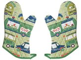 Now Designs Basic Oven Mitts, Food Trucks, Set of 2