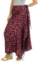 Handcrafted Batik Silk Sarong in Cherry Red and Black, 'Cerise Spiral'