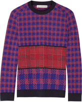 Mary Katrantzou Mackie houndstooth-intarsia wool sweater
