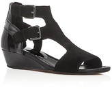 Donald J Pliner Eden Patent Leather Demi Wedge Sandals
