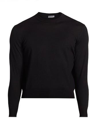 Balenciaga Wool Blend Logo Crew Sweater