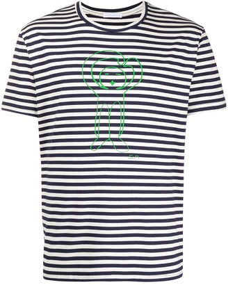 Societe Anonyme striped graphic print T-shirt