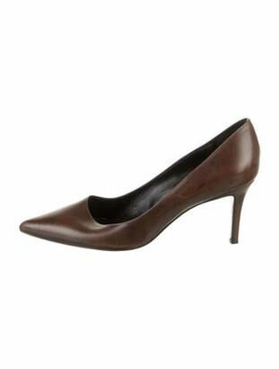 Aperlaï Leather Pumps Brown