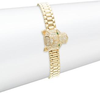 Effy 14K Yellow Gold, Diamond & Emerald Bracelet