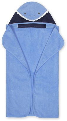 Just Born Baby Boy Shark Hooded Towel