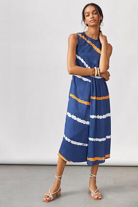 Ocean Tie-Dye Midi Dress By Atsu in Blue Size XS P