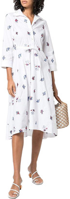 Le Sirenuse Lucy 3/4-Sleeve Maxi Dress