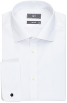 John Lewis Non Iron Twill Double Cuff Slim Fit Shirt, White