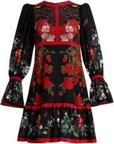 Alexander McQueen Floral-print silk dress