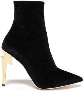 Giuseppe Zanotti Embellished Stretch-velvet Sock Boots