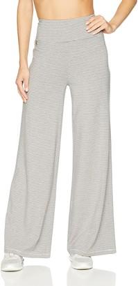 Calvin Klein Women's Mini Stripe High Waist Wide Leg Pull On Pant