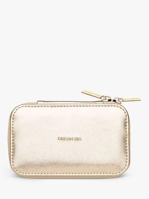 Estella Bartlett Dream Big Zipped Jewellery Box, Gold