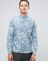 Celio Long Sleeve Regular Fit Shirt with All Over Print