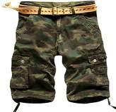 SiYang Man Men's Multi Pocket Cargo Shorts for Men Big and Tall Camouflage Shorts(No Belt)