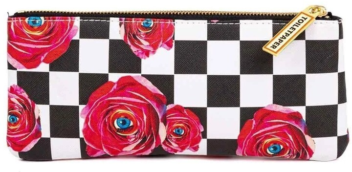 Thumbnail for your product : Seletti Toiletpaper Cosmetic Bag Roses