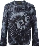 Valentino 'Rockstud Tie&Dye' embroidered butterfly sweatshirt