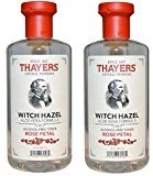 Thayer Alcohol-free Rose Petal Witch Hazel with Aloe Vera, 12 oz (Pack of 2)