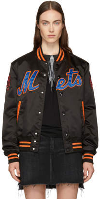 Marcelo Burlon County of Milan Black NY Mets Edition Bomber Jacket