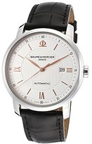 Baume & Mercier Classima MOA10075 42mm Automatic Stainless Steel Case Black Leather Sapphire Crystal Men's Watch
