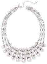 New York & Co. 3-Row Silvertone Bib Necklace