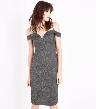 New Look AX Paris Lace Strappy Midi Dress