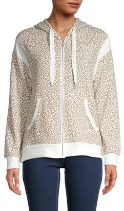 Leopard-Print Hoodie
