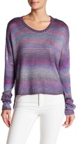 Cotton Emporium Rainbow Crew Pullover Sweater
