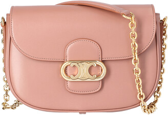 Celine Light Pink Leather Medium Chain Maillon Triomphe Bag
