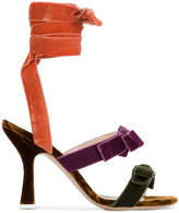 ATTICO Velvet Diletta Bolero Bow 105 Sandals