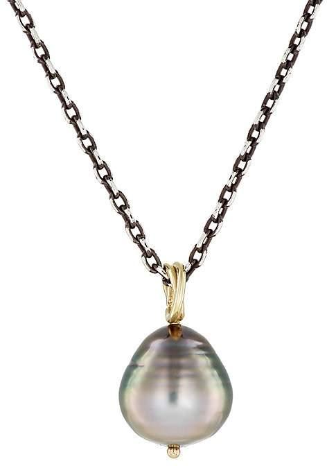 Dean Harris Men's Baroque Pearl Pendant Necklace