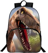 Tibes Cute Dinosaur Polyester 3D Backpack Student Kids Backpack for Girls/Boys