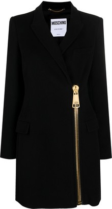 Moschino Exposed Zip Coat