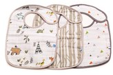Infant Little Unicorn 3-Pack Classic Cotton Muslin Bibs