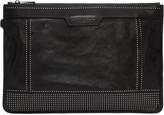Jimmy Choo Black Studded Leather Derek Pouch