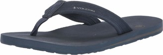 Volcom Men's Driftin Suede Strap Leather Flip Flop Sandal