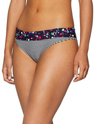 S'Oliver Women's Umschlaghose JPF-49 Bikini Bottoms, Schwarz (Schwarz-weiß Gestreift 343)