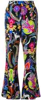 Etro mixed floral print flared trousers